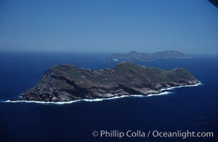 Coronado Islands Mexico. Viewed from north, North island in foreground. Coronado Islands (Islas Coronado), Coronado Islands, Baja California, Mexico, natural history stock photograph, photo id 05491