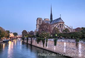 "River Seine and Notre Dame Cathedral at Sunrise. Notre Dame de Paris (""Our Lady of Paris""), also known as Notre Dame Cathedral or simply Notre Dame, is a historic Roman Catholic Marian cathedral on the eastern half of the Ile de la Cite in the fourth arrondissement of Paris, France. Widely considered one of the finest examples of French Gothic architecture and among the largest and most well-known churches in the world ever built, Notre Dame is the cathedral of the Catholic Archdiocese of Paris"