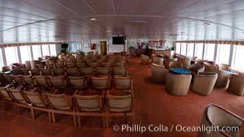 Observation lounge of the icebreaker ship M/V Polar Star.  This is where lectures and happy hours are held