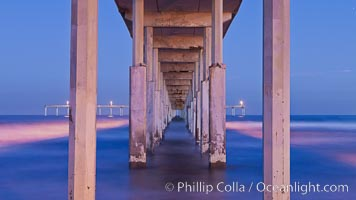 Ocean Beach Pier, also known as the OB Pier or Ocean Beach Municipal Pier, is the longest concrete pier on the West Coast measuring 1971 feet (601 m) long. San Diego, California, USA, natural history stock photograph, photo id 27387