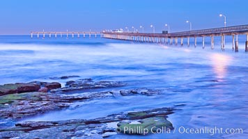 Ocean Beach Pier, also known as the OB Pier or Ocean Beach Municipal Pier, is the longest concrete pier on the West Coast measuring 1971 feet (601 m) long. San Diego, California, USA, natural history stock photograph, photo id 27389