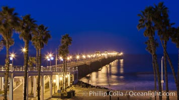 Oceanside Pier at sunrise, dawn, morning. Oceanside, California, USA, natural history stock photograph, photo id 27230