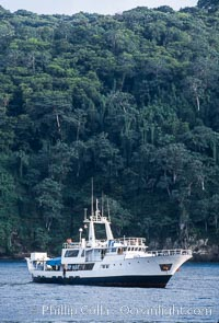 Boat Okeanos at Cocos Island