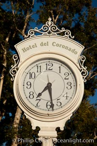 Old fashioned clock at the Hotel Del, Coronado, San Diego. San Diego, California, USA, natural history stock photograph, photo id 27109