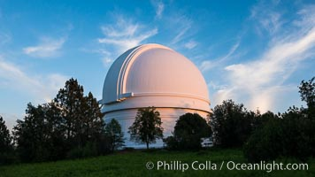 Palomar Observatory at sunset. Palomar Observatory, Palomar Mountain, California, USA, natural history stock photograph, photo id 29326