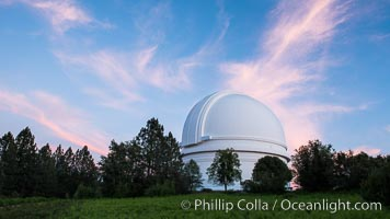 Palomar Observatory at sunset. Palomar Observatory, Palomar Mountain, California, USA, natural history stock photograph, photo id 29328