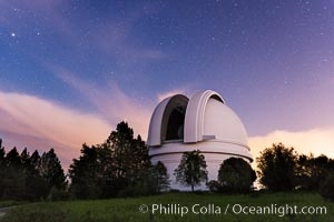Palomar Observatory at sunset. Palomar Observatory, Palomar Mountain, California, USA, natural history stock photograph, photo id 29333