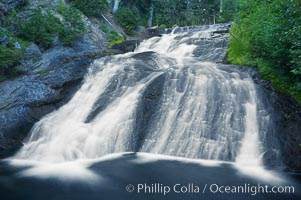 Paradise Falls tumble over rocks in Paradise Creek.,  Copyright Phillip Colla, image #13868, all rights reserved worldwide.