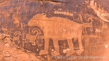Petroglyphs and native American rock art, Moab, Utah. Moab, Utah, USA, natural history stock photograph, photo id 29265
