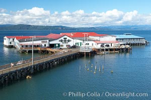 Pier 39, former site of Bumblebee Tuna cannery, now a tourist attraction, Columbia River, Astoria, Oregon