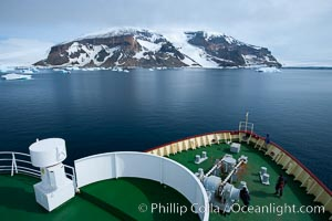 M/V Polar Star on its way to Brown Bluff in the Antarctic Sound