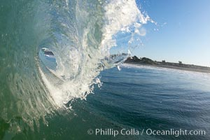 Morning surf, breaking wave, Ponto, Carlsbad, California