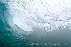 Overcast morning surf, natural history stock photograph, photo id 18993
