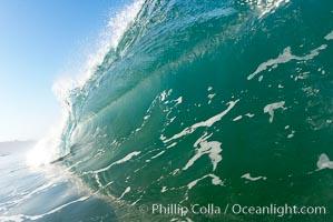 Breaking wave, early morning surf. Ponto, Carlsbad, California, USA, natural history stock photograph, photo id 19406