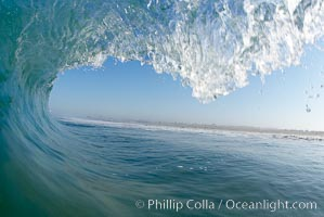 Breaking wave, early morning surf, Ponto, Carlsbad, California