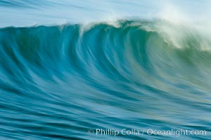 Breaking wave, fast motion and blur. Ponto, South Carlsbad, California