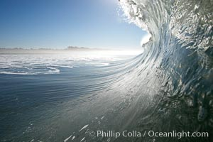 Surf, wave, winter, morning, Ponto, South Carlsbad. Ponto, Carlsbad, California, USA, natural history stock photograph, photo id 14986