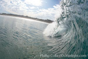 Breaking wave, Ponto, South Carlsbad, California