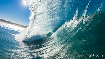 Breaking wave, Ponto, South Carlsbad. Ponto, Carlsbad, California, USA, natural history stock photograph, photo id 17680