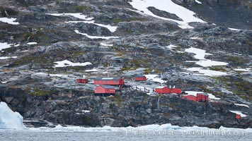 Primavera Base, (Argentina) on the slopes above Cierva Cove, Antarctica. Cierva Cove, Antarctic Peninsula, Antarctica, natural history stock photograph, photo id 25561