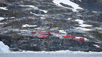 Primavera Base, (Argentina) on the slopes above Cierva Cove, Antarctica