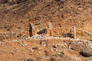 Remains of a small chapel and prison, north end of Guadalupe Island (Isla Guadalupe)