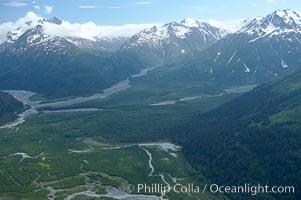 Aerial view, Resurrection Mountains