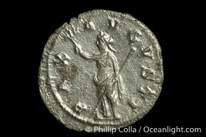 Roman emperor Maximinus I (235-238 A.D.), depicted on ancient Roman coin (silver, denom/type: Denarius)