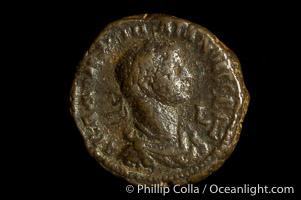 Roman emperor Valbalathus (266-271 A.D.), depicted on ancient Roman coin (bronze, denom/type: Tetradrachm) (AE Tet. BMC 2384. S. 3193, SG 2887. MILNE 4333.)