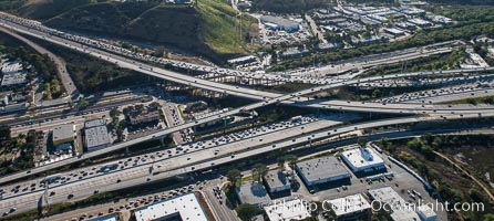Rush Hour Traffic, Interstate 5 and Interstate 805, San Diego, California