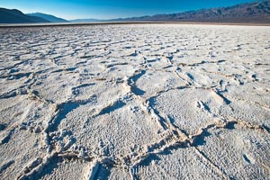 Devils Golf Course, California.  Evaporated salt has formed into gnarled, complex crystalline shapes in on the salt pan of Death Valley National Park, one of the largest salt pans in the world.  The shapes are constantly evolving as occasional floods submerge the salt concretions before receding and depositing more salt