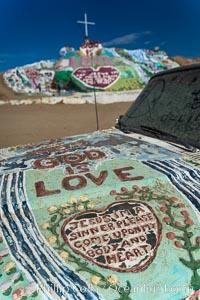 Salvation Mountain, the life work of Leonard Knight, near the town of Niland, California