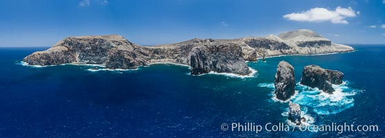San Benedicto Island aerial photo, Revillagigedos Islands, Mexico. San Benedicto Island (Islas Revillagigedos), Baja California, Mexico, natural history stock photograph, photo id 32918