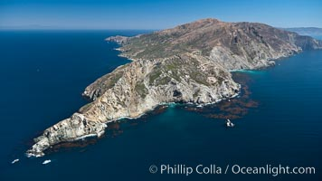 Aerial photo of the West End of Catalina Island