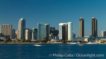 San Diego bay and skyline, viewed from Coronado Island