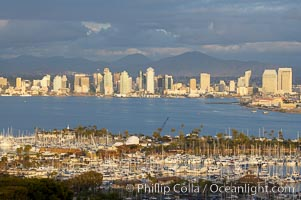 San Diego harbor skyline, late afternoon