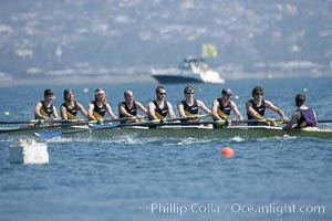 UCSD men on their way to winning the finals of the Cal Cup, 2007 San Diego Crew Classic, Mission Bay