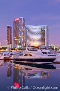 San Diego Marriott Hotel and Marina viewed from the San Diego Embacadero Marine Park
