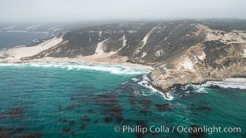 San Miguel Island, aerial photograph. San Miguel Island, California, USA, natural history stock photograph, photo id 29380