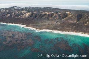 San Miguel Island south side, aerial photograph. San Miguel Island, California, USA, natural history stock photograph, photo id 29387