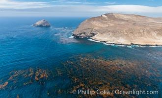 Santa Barbara Island, aerial photograph. Santa Barbara Island, California, USA, natural history stock photograph, photo id 29359