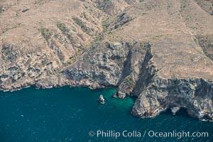 Santa Cruz Island, north side, aerial photo