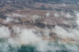 Santa Rosa Island, north side, aerial photo