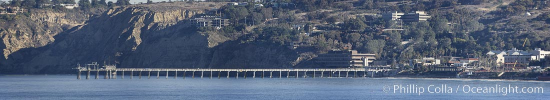 Scripps Pier, panorama, a composite of five individual photographs, Scripps Institution of Oceanography, La Jolla, California