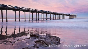 Scripps Pier, sunrise. Scripps Institution of Oceanography, La Jolla, California, USA, natural history stock photograph, photo id 26430