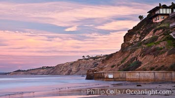 Scripps Pier, sunrise. La Jolla, California, USA, natural history stock photograph, photo id 26431