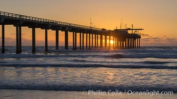 Scripps Pier at sunset, Scripps Institution of Oceanography, La Jolla, California