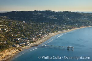 Scripps Pier, with Mount Soledad and La Jolla in the distance