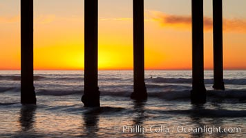 Research pier at Scripps Institution of Oceanography SIO, sunset. Scripps Institution of Oceanography, La Jolla, California, USA, natural history stock photograph, photo id 26534