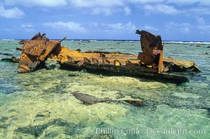 Wreck of F/V Jin Shiang Fa. Rose Atoll National Wildlife Sanctuary, American Samoa, USA, natural history stock photograph, photo id 00709